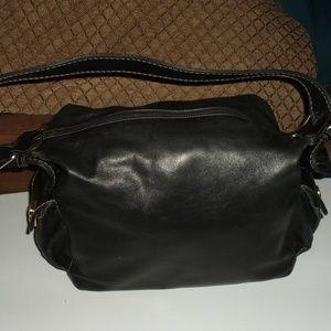Marino Orlandi large black leather bag